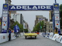 Crossing the finish in Adelaide 2003